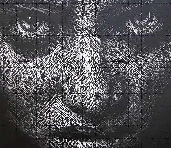 عواء، لوحة من لوحات الدكتورة باميلا شرابيه